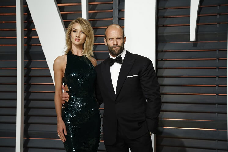 Jason Statham i jego żona Rosie Huntington-Whiteley